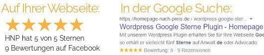 Google Sterne Suche Wordpress Plugin