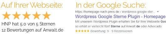 Google Sterne Suche Joomla Plugin